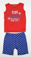 Carter's Toddler Girls 2 Piece Red White Blue Patriotic Outfit Set Size 3T
