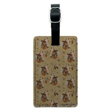 Palamino Horse Selfie Pattern Rectangle Leather Luggage Card Carry-On ID Tag
