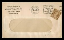 DR WHO 1926 PHILADELPHIA PA EXPO SLOGAN CANCEL COIL #601 f53263