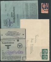 Lot Stamp Germany Revenue WWII Ration Cover Hindenbury Nazi Era U