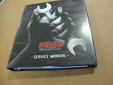 New Big Dog Motorcycles 2007 Service Manual 8 Chapters 3 Ringed Binder K-9 Bdm