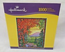 Hallmark 1000 Piece Puzzle - Stained Glass - Deer Drinking From River