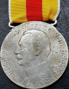 ✚10357✚ German WW1 Baden Silver Medal of Merit Silberne Verdienstmedaille