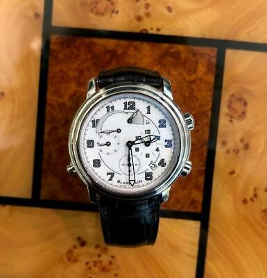 Blancpain Leman Reveil GMT/ Steel with White Dial