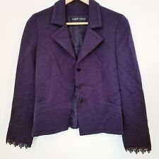 ALBERT NIPON Lined Purple Blazer Jacket Sz Small