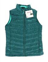 Marmot 242231 Womens Zip Closure Down Vest Solid Green Size Medium