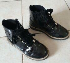 Chaussure montante enfant noire vernis pointure 30