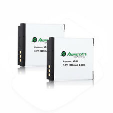 2x NB-6L Battery for Canon Powershot D20 SX700 SD770 SX510 SX280 SX260 HS SD1200