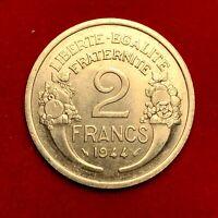 #1818 - RARE - 2 francs 1944 Morlon SUP/SPL FACTURE