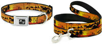 Buckle Down Seatbelt Dog Collar or Leash - GOLDEN SUNSET - S M L Made in USA