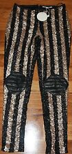 Womens Black and Gold Bitter Tears Leggings BNWT - Finders Keepers - Size S