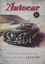 Autocar magazine 1/9/1961 featuring Triumph TR4, Renault R4, Ogle road test
