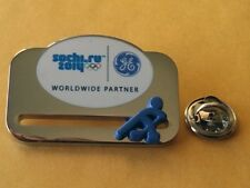 SOCHI 2014 Olympic GE (General Electric) ICE HOCKEY sponsor rare moving pin