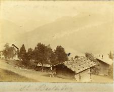 Suisse, canton de Berne, Beatenberg, ca.1900, vintage citrate print Vintage citr