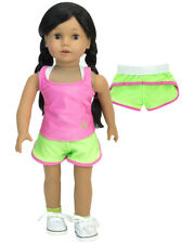 Work Out Shorts~Sports Bra~Tank Top Fits 18 in American Girl Doll Clothes