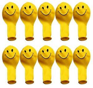 "18 Smiley latex Balloon 9"" Birthday Party Decoration Emoji Kids Fun Outdoor"