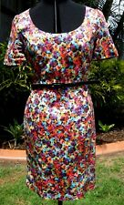 NWOT $279  *REVIEW* Gorgeous Floral Dress comes with belt size 12