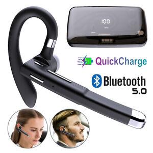 Bluetooth 5.0 Headset Kopfhörer Stereo Kabellos Ohrhörer Mikrofon für Handy