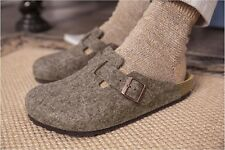 Birkenstock Boston Cocoa Wolle Fußbett normal & schmal Größe 36-46
