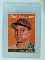 1958 Topps #92 Clint Courtney Washington Senators Baseball Card