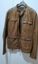Chaqueta de piel auténtica hombre cuero marrón camel Pull & Bear  Talla XL