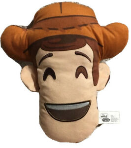 New DISNEY Emoji Pillow WOODY TOY STORY BED NAP TRAVEL PILLOW