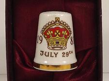 Royal Albert Thimble St Pauls Cathedral Commemorative Di Charles Wedding 1981