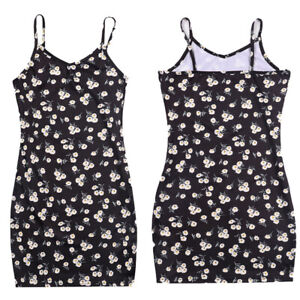 Kids Girls Summer Floral Sleeveless Bodycon Tank Dress Casual Boho Slim Sundress
