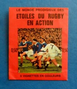 POCHETTE PACKET  AGEDUCATIF RUGBY EN ACTION 1972 / 1973 no panini