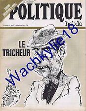 Politique Hebdo 52 09/11/1972  Kerleroux Nixon  Libération sexuelle Dziga Vertov
