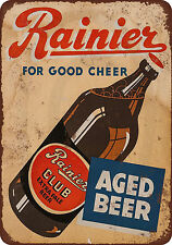 1934 Rainier Club Extra Pale Beer Vintage Look Reproduction Metal Sign 8 x 12