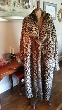 TERRY LEWIS Classic Luxuries - 3X full-length faux fur cheetah/leopard coat