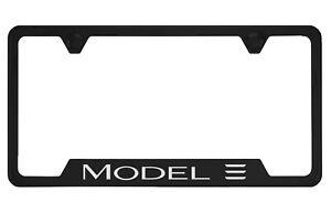 Tesla Model 3 Black License Plate Frame