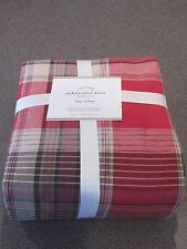 "New 4PC Pottery Barn Jackson Plaid King Duvet w/3 24"" Pillow Covers-Rustic Lodge"