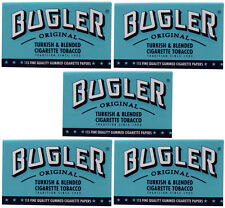 5 Pack Bugler Single Wide 70 mm Cigarette Rolling Papers 575 Leaves - 5023-5