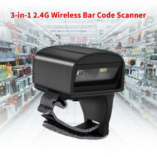 2.4G Wireless Bluetooth 2D Wearable Ring Barcode Scanner Reader for iPad Android