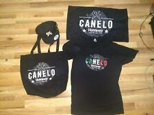 New Canelo Alvarez Hennessy Bundle, Snapback Hat, T-Shirt, Towel and Tote Bag