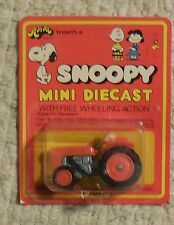 Snoopy Mini Diecast Charlie Brown on Tractor Mosc New Aviva vintage