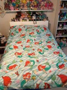 Vintage Disney The Little Mermaid Ariel Twin Bed Comforter