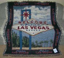 New Welcome To Fabulous Las Vegas Nevada Sign Afghan Throw Blanket Gambler Gift