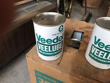 Full 1 Quart Case Veedol Veelube Getty Motor Oil Gas Station Advertising Can