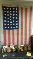 RARE ORIGINAL VINTAGE CIVIL WAR ERA 36 STAR NEVADA STATE FLAG 4'x8' BY HORSTMAN