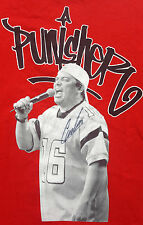 Carlos Mencia Large T Shirt Punisher autographed Signed Comedian New