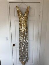 Jovani White and Gold Long Dress RARE, FREE SHIPPING! SZ 2