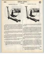 1935 PAPER AD 2 PG Walker Roll A Car Garage Floor Car Auto Jack Hydraulic Mechan