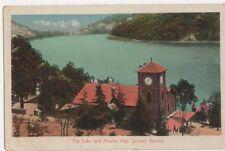 India, The Lake and Mission High School, Mainital Postcard, B224