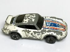 White Porsche P-911 Flying Colors Hot Wheels Redline Rare Enamel