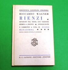 Rienzi - R. Wagner - Ed. Sansoni  - Guido Manacorda