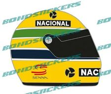 PEGATINA VINILO IMPRESO CASCO AYRTON SENNA RACING STICKER DECAL
