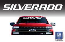 """Chevy SILVERADO LTZ LT LS Z71 Trail Boss RST Windshield Banner Decal 36"""" White"""